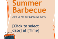 Free Bbq Flyer Template pertaining to Free Bbq Flyer Template