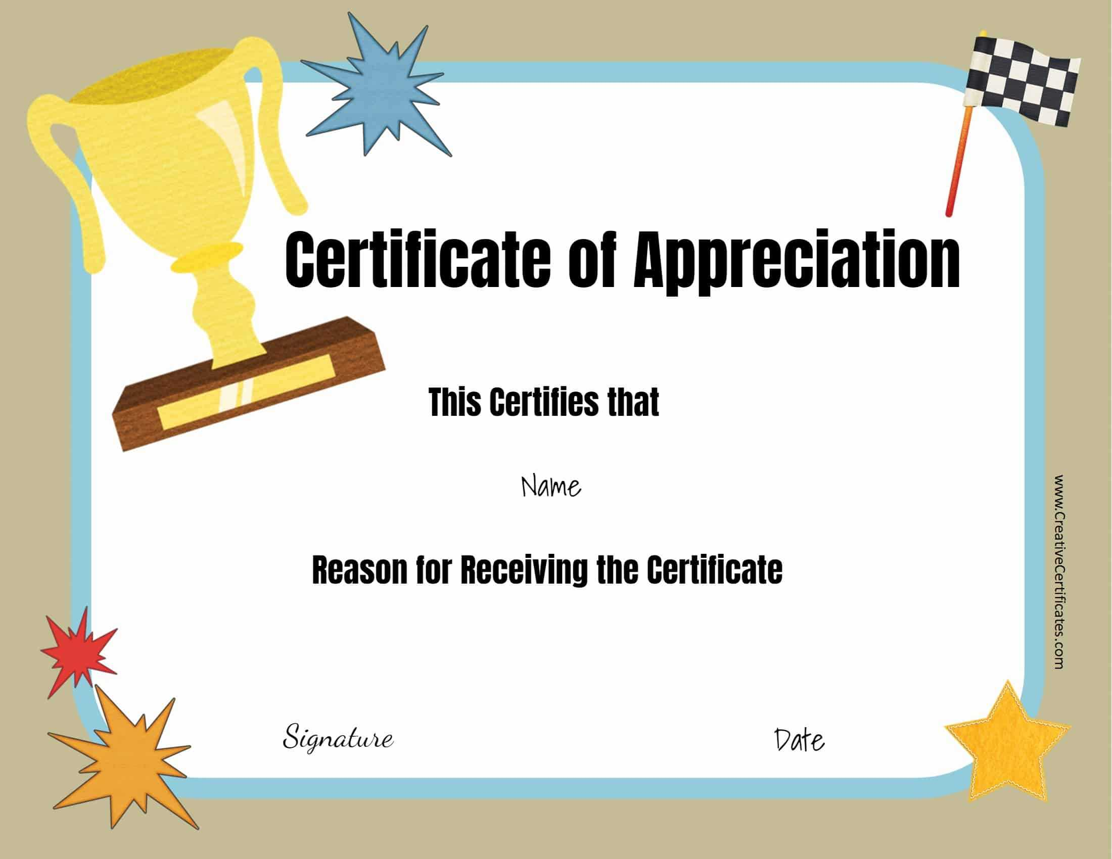 Free Certificate Templates Intended For Funny Certificates For Employees Templates