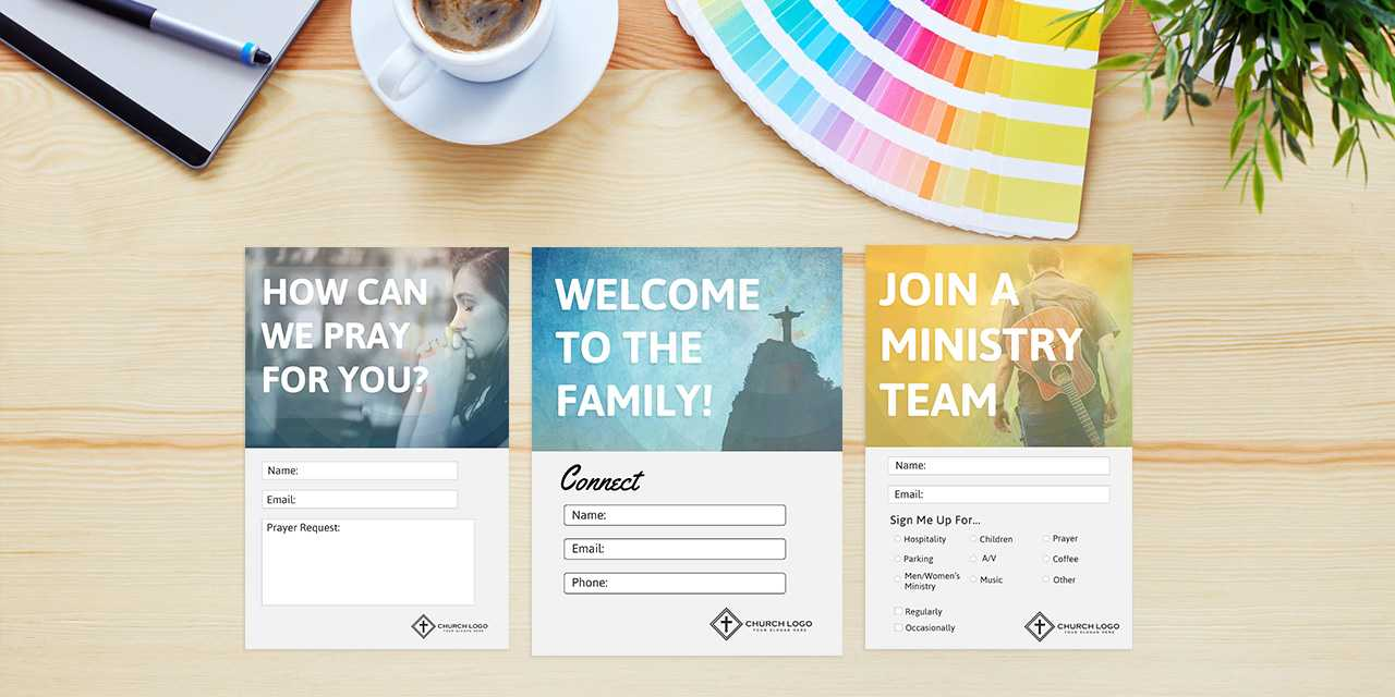 Free Church Connection Cards - Beautiful Psd Templates With Regard To Decision Card Template