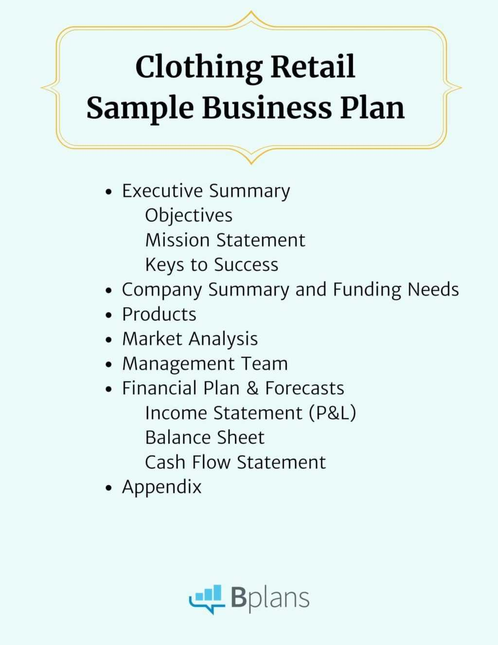 Free Clothing Retail Sample Business Plan For Clothing Store Business Plan Template Free