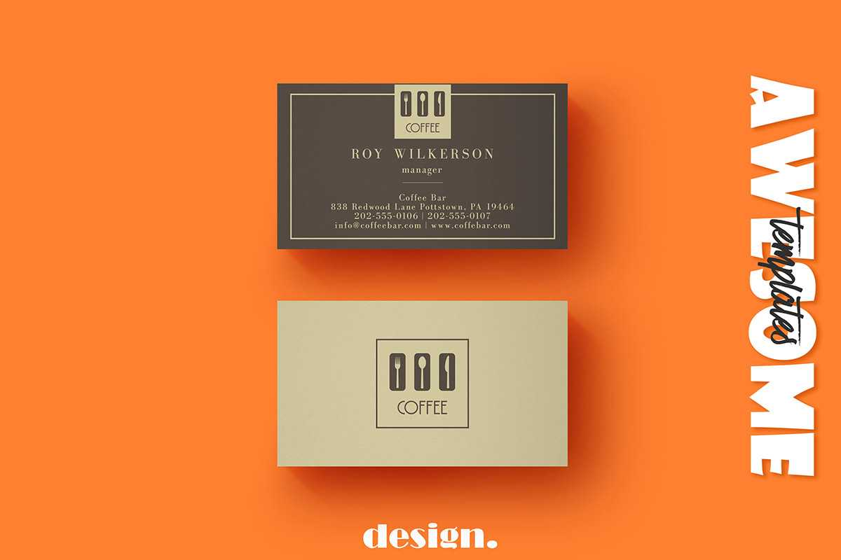 Free Coffee Business Card Template - Creativetacos With Regard To Coffee Business Card Template Free