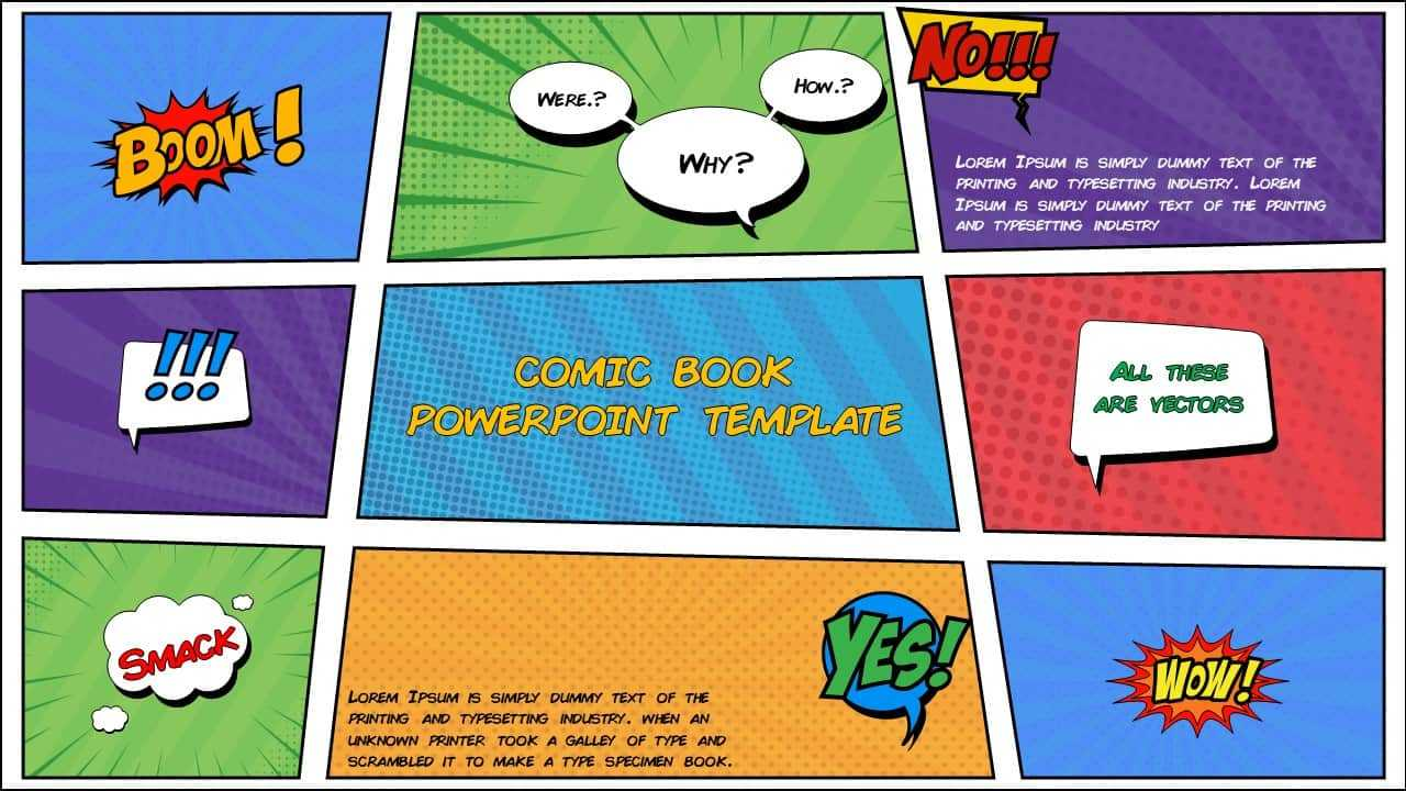 Free Comic Book Powerpoint Template For Download | Slidebazaar Throughout Comic Powerpoint Template