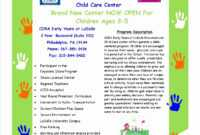Free Daycare Flyer Templates pertaining to Daycare Flyers Templates Free