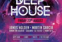 Free Deep House Flyer Template   Inspirationfeed for Free Birthday Flyer Templates