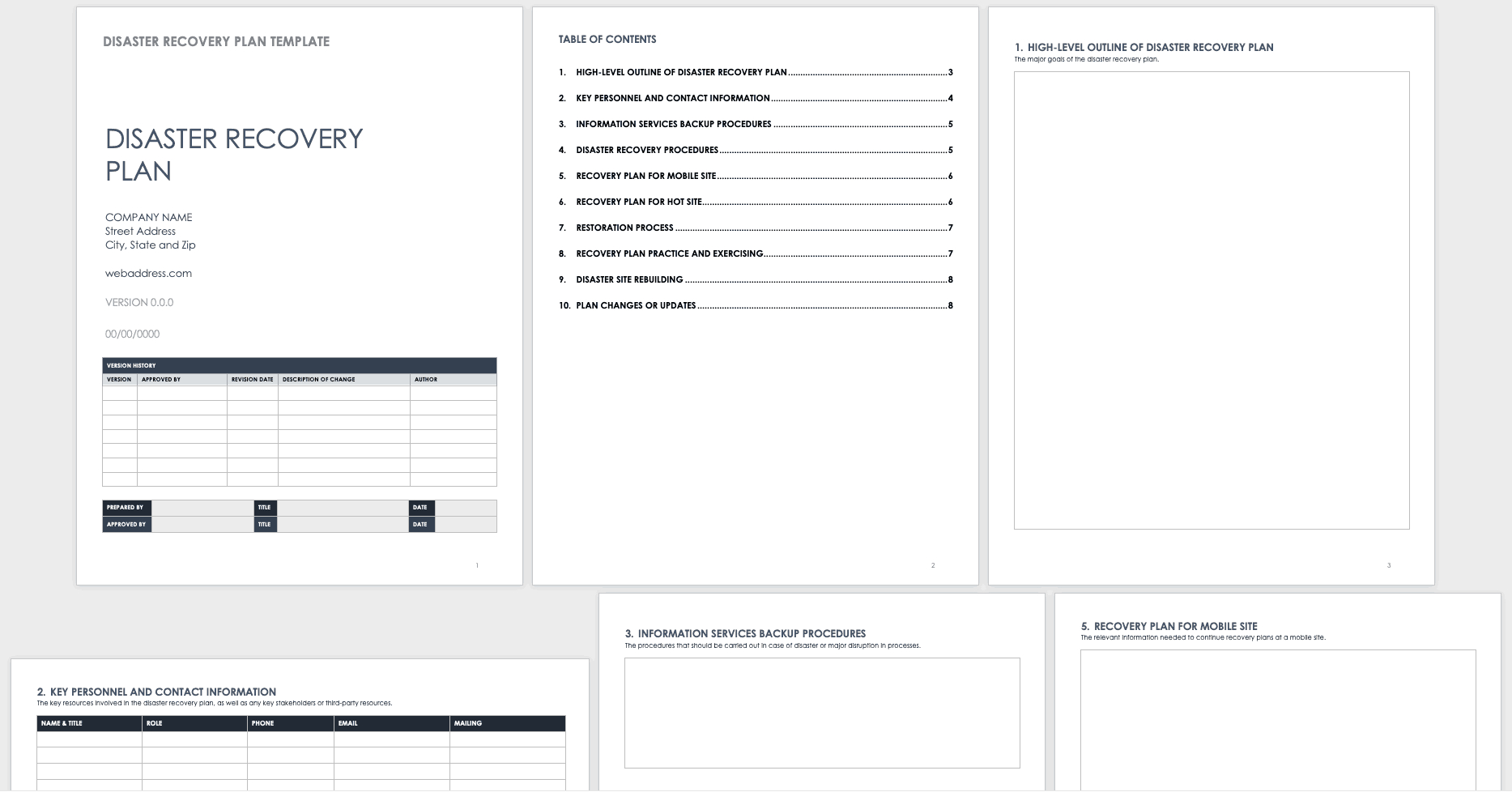 Free Disaster Recovery Plan Templates   Smartsheet With Disaster Recovery Plan Template For Small Business