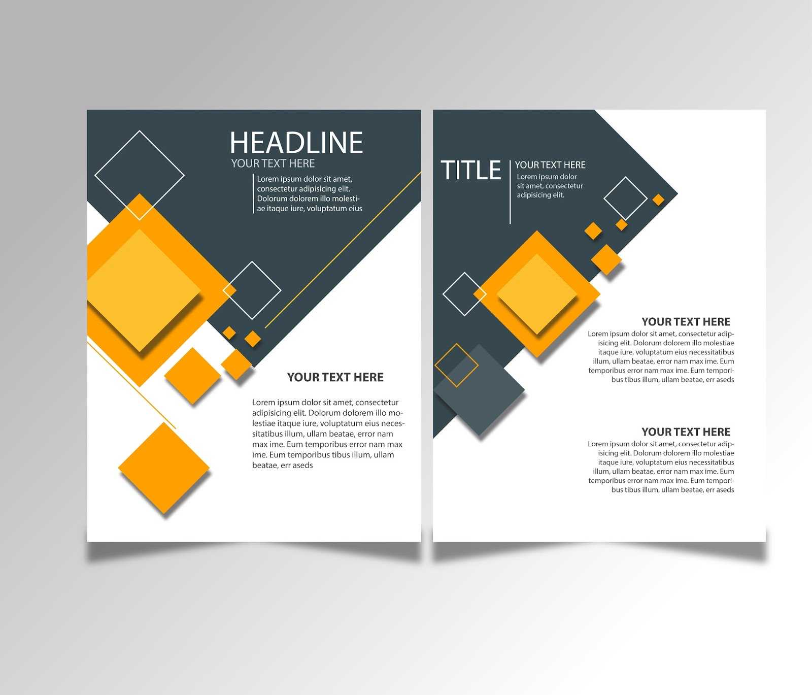 Free Download Brochure Design Templates Ai Files - Ideosprocess With Free Flyer Template Illustrator