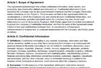 Free Employee Non-Disclosure Agreement (Nda) | Pdf | Word pertaining to Free Confidentiality Agreement Template Download