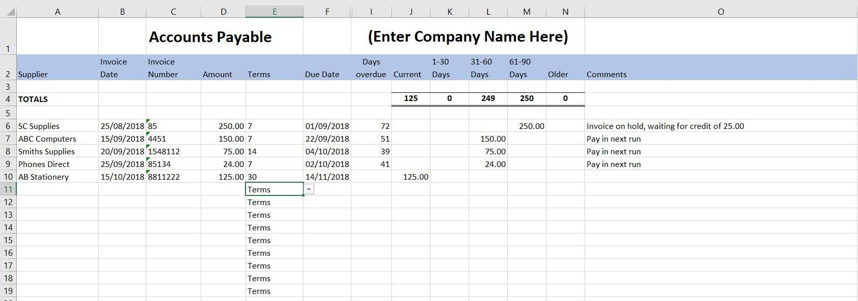 Free Excel Bookkeeping Templates - 14 Accounts Spreadsheets In Excel Template For Small Business Bookkeeping