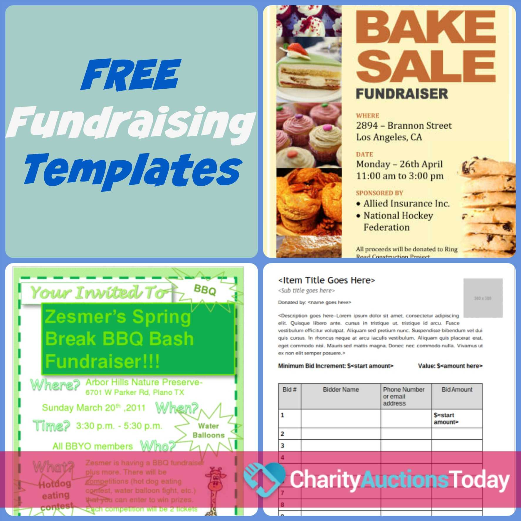 Free Fundraiser Flyer   Charity Auctions Today Throughout Free Benefit Flyer Templates