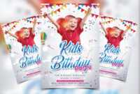 Free Kids Birthday Flyer Template (Psd) for Free Birthday Flyer Templates