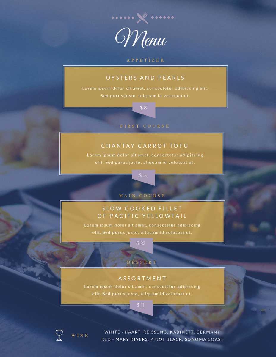 Free Menu Maker | Menu Creator | Visme In Frequent Diner Card Template