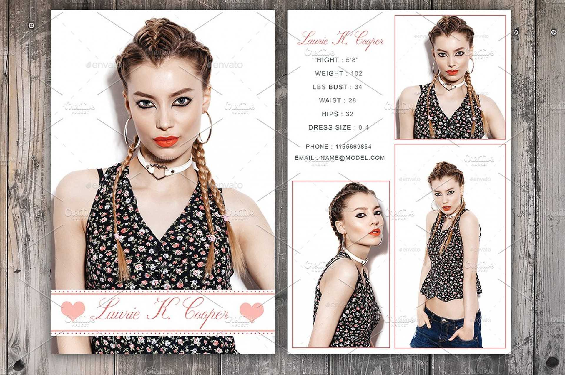 Free Model Comp Card Templates - C Punkt Within Comp Card Template Psd