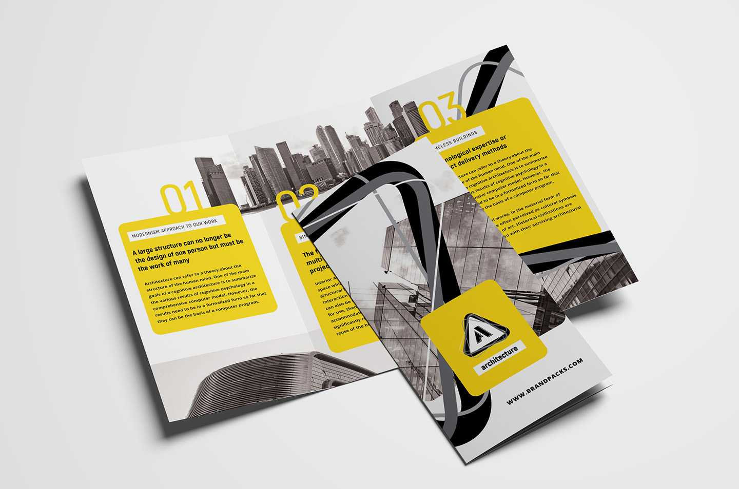 Free Modern Trifold Brochure Template For Photoshop Throughout Fancy Brochure Templates
