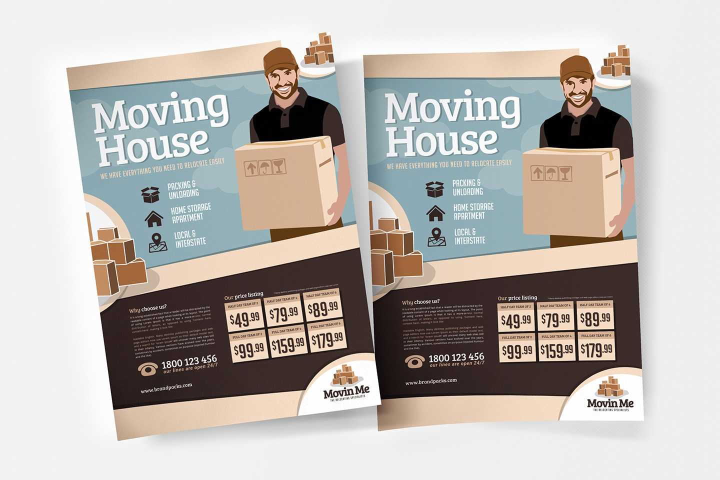 Free Moving House Poster Template For Photoshop & Illustrator Regarding Free Moving House Cards Templates