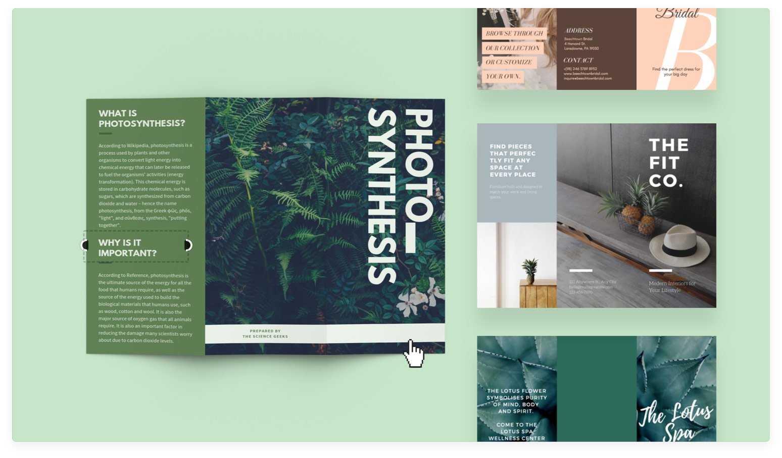 Free Online Brochure Maker: Design A Custom Brochure In Canva In E Brochure Design Templates