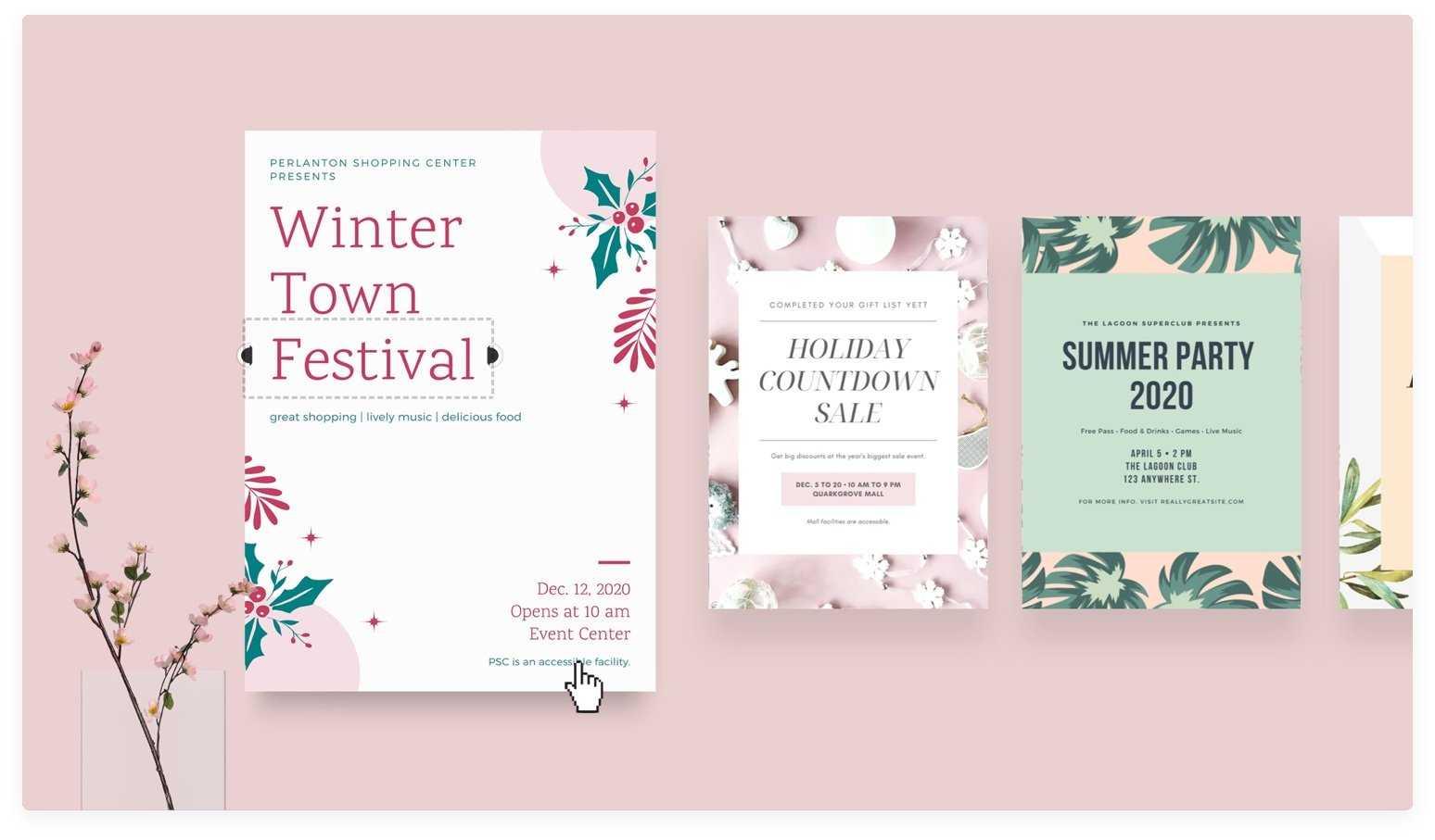Free Online Flyer Maker: Design Custom Flyers With Canva Inside Free Printable Event Flyer Templates