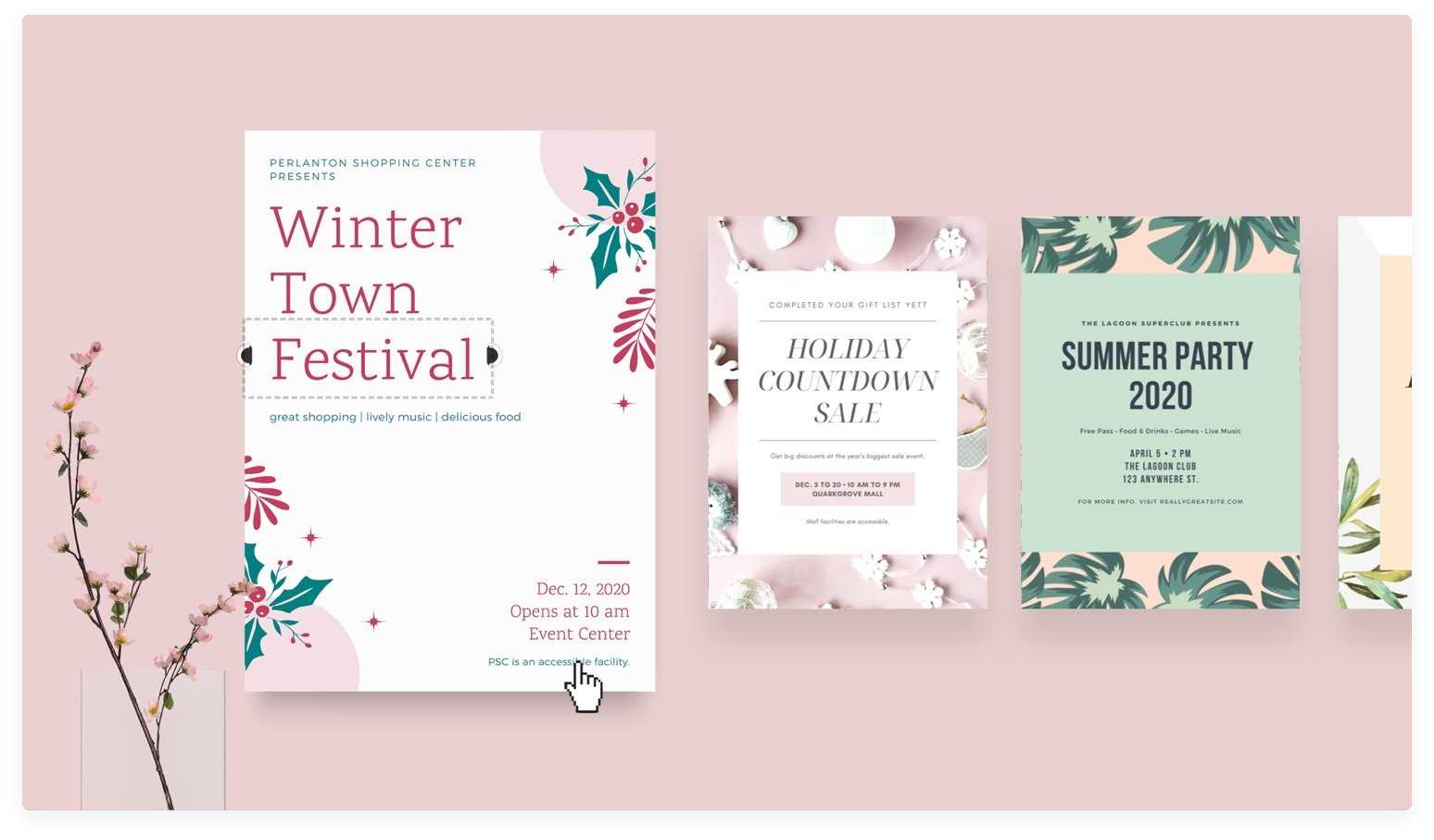 Free Online Flyer Maker: Design Custom Flyers With Canva Throughout Design Flyers Templates Online Free