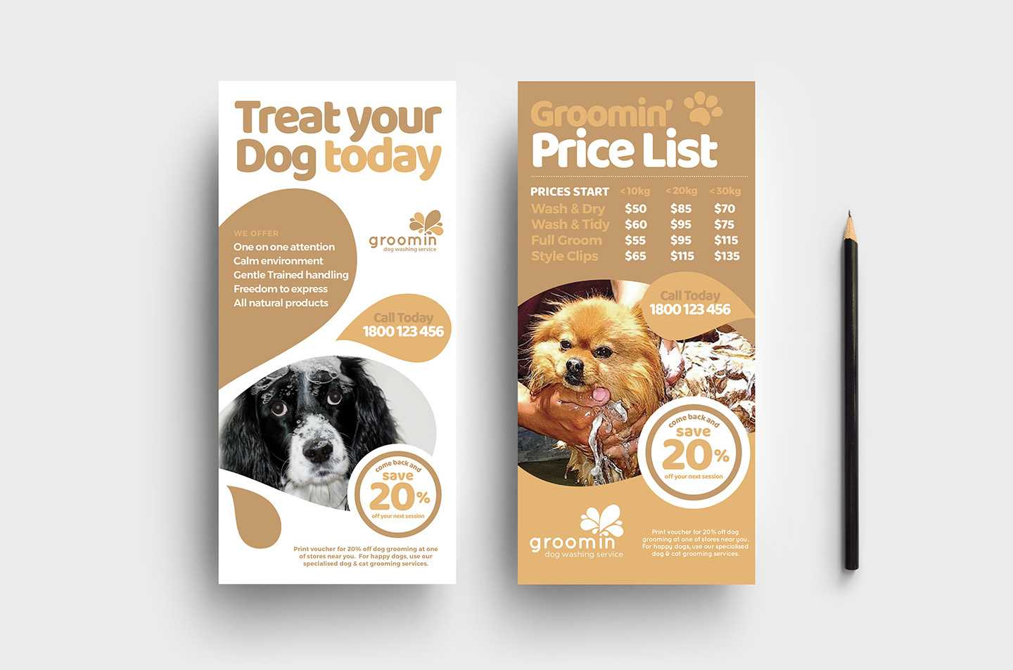 Free Pet Service Templates Pack - Psd, Ai & Vector For Dog Grooming Flyers Template