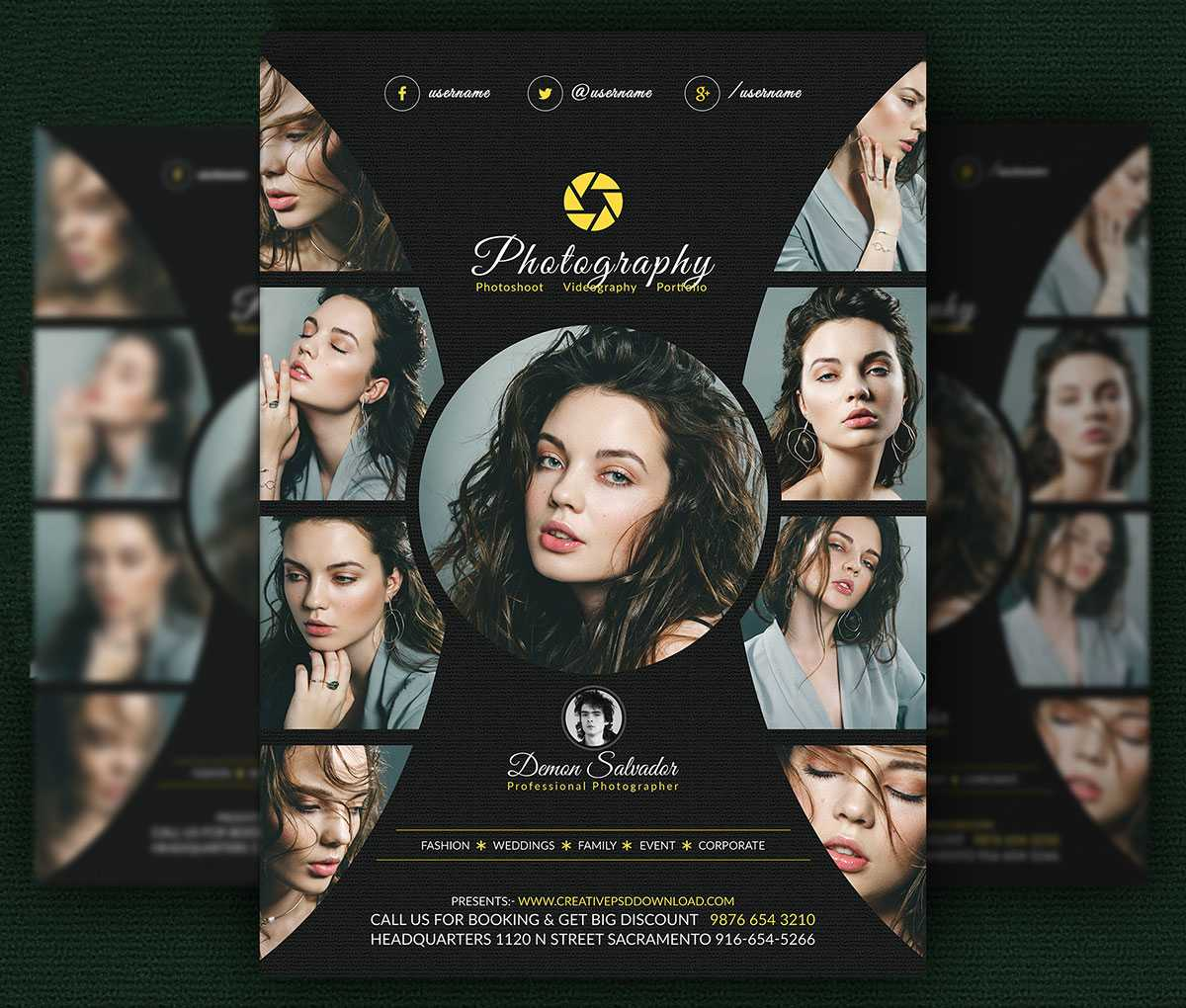 Free Photography Flyer Psd Template - Creativetacos With Regard To Free Photography Flyer Templates Psd