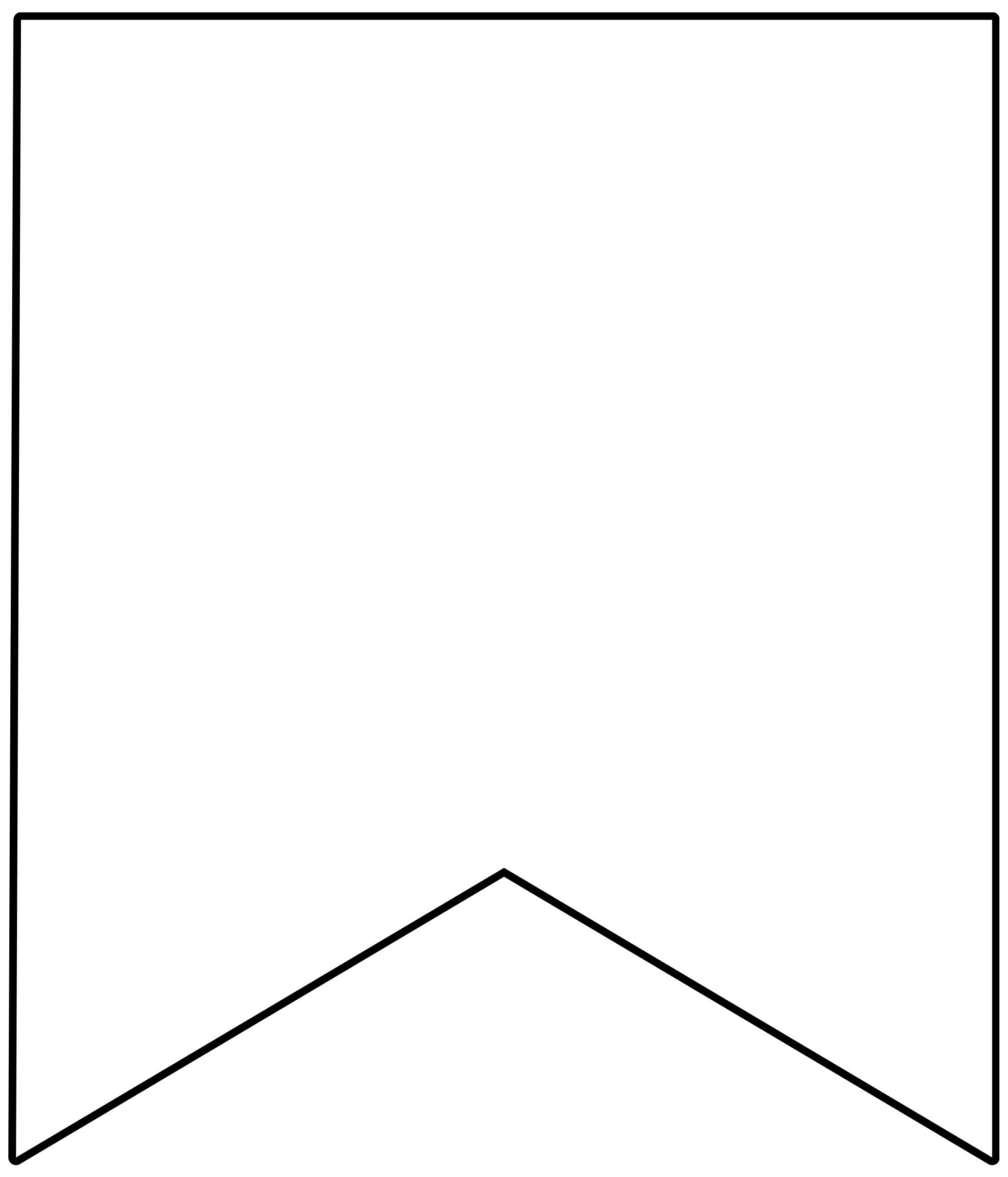 Free Printable Banner Templates {Blank Banners} - Paper For Free Triangle Banner Template