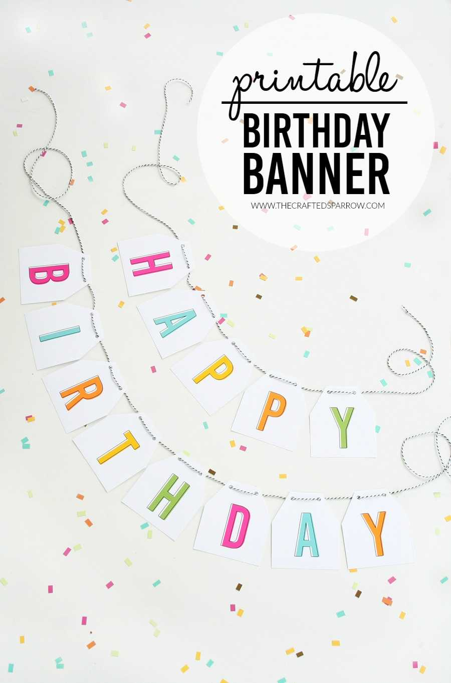 Free Printable Birthday Banners – The Girl Creative In Diy Banner Template Free