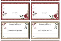 Free Printable Christmas Gift Certificates: 7 Designs, Pick inside Free Christmas Gift Certificate Templates