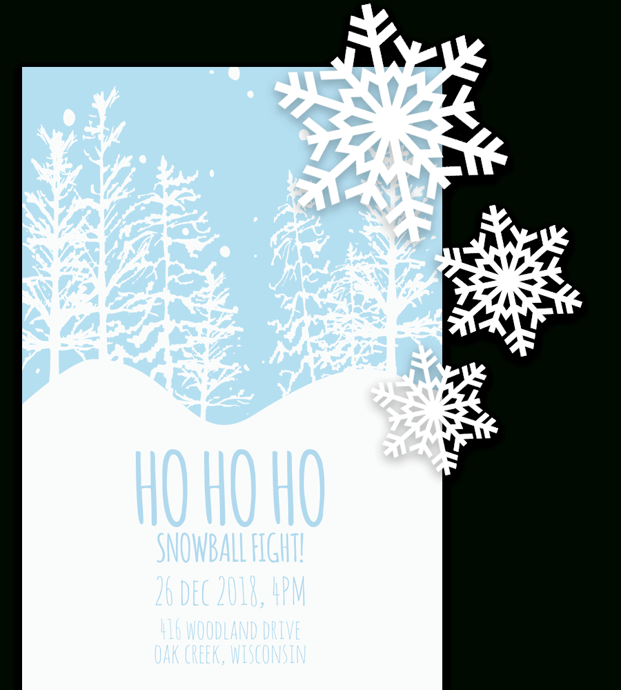 Free Printable Christmas Invitation Templates In Word! Intended For Free Christmas Invitation Templates For Word