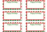 Free Printable Christmas Labels Template – Christmas Printables intended for Free Name Label Templates