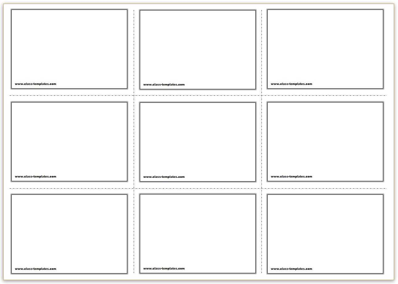 Free Printable Flash Cards Template Inside Free Printable Flash Cards Template