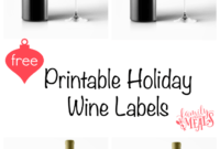 Free Printable Holiday Wine Labels – Family Fresh Meals within Diy Wine Label Template