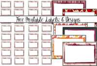 Free Printable Labels: 6 Different Designs with Free Printable Jar Labels Template