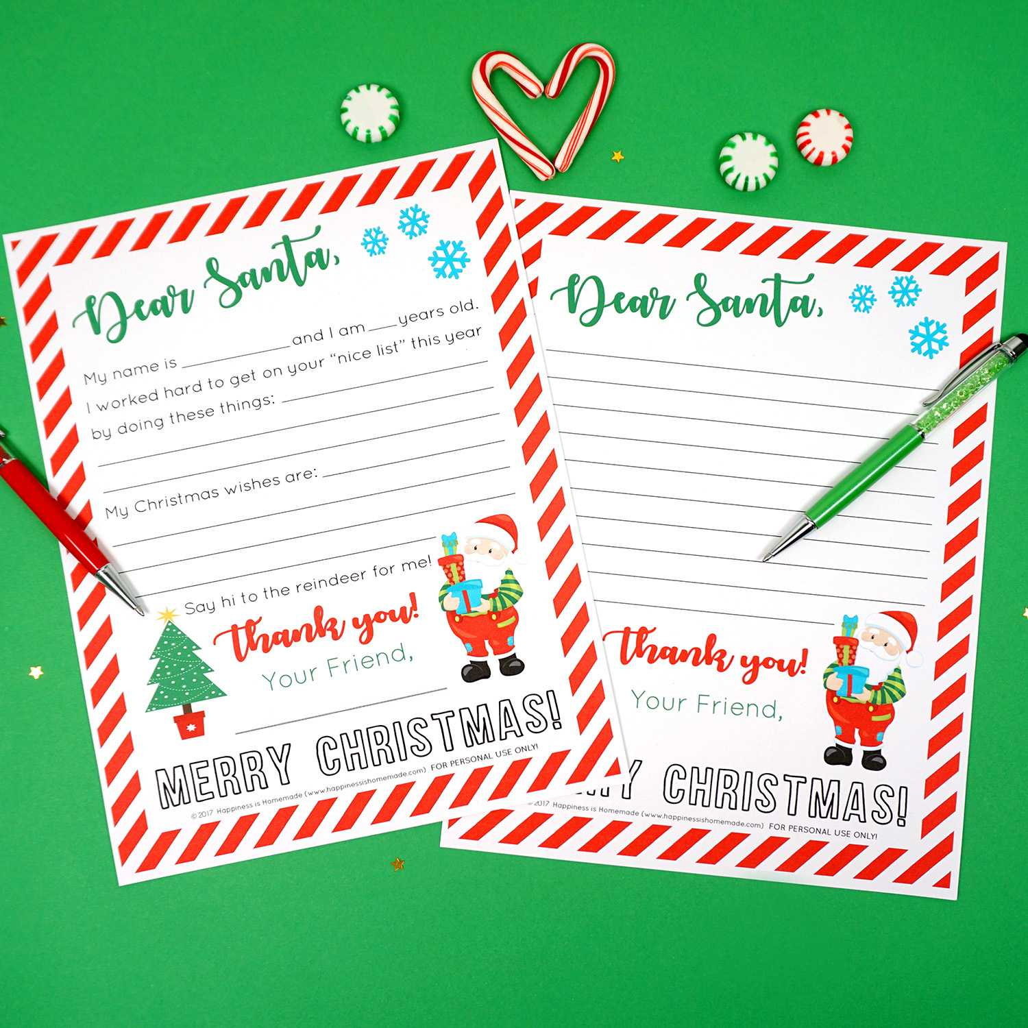 Free Printable Letter To Santa - Happiness Is Homemade For Free Letters From Santa Template