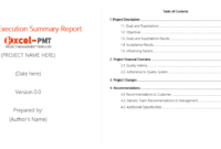 Free Project Executive Summary Report Template – Project for Executive Summary Report Template