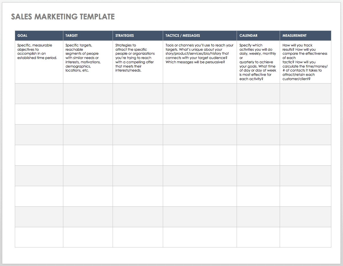 Free Sales Pipeline Templates | Smartsheet For Excel Sales Report Template Free Download