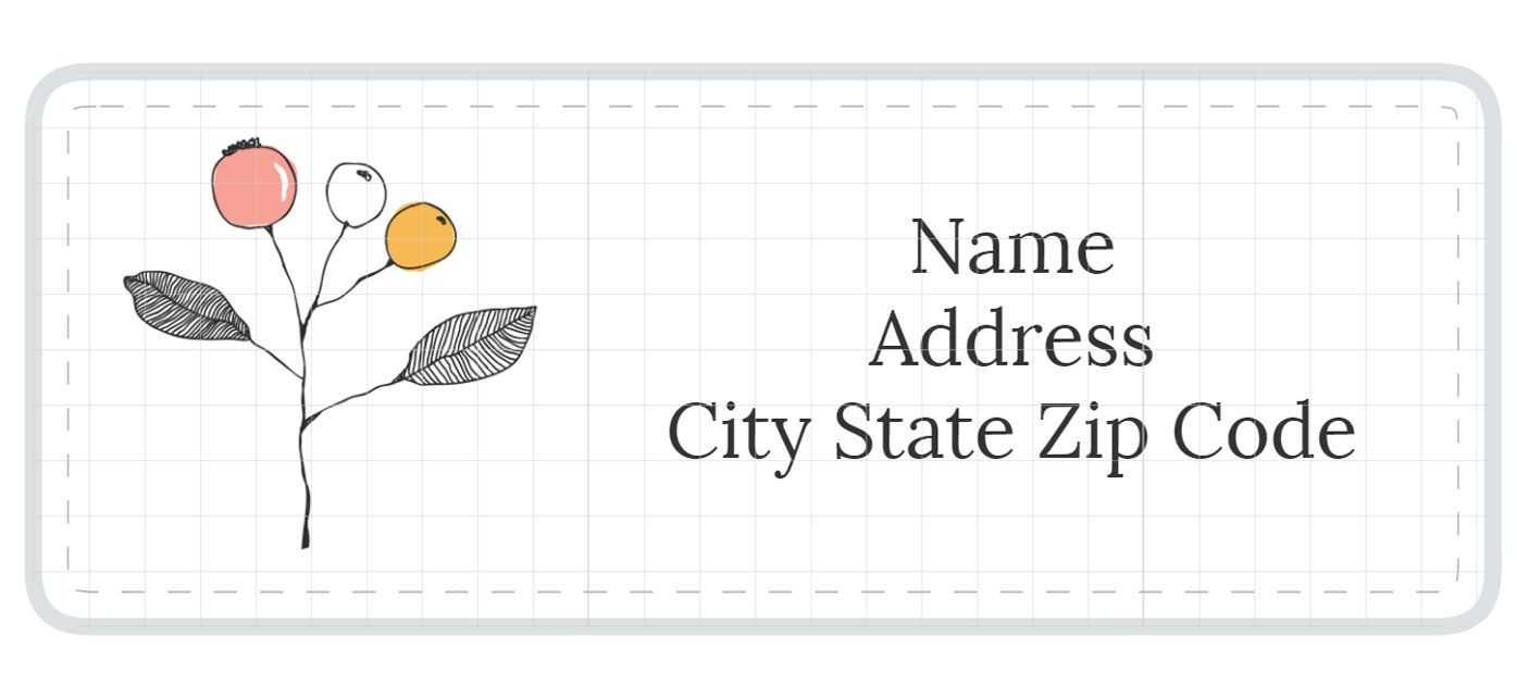 Free Stylish Address Label Templates Within Free Printable Return Address Labels Templates