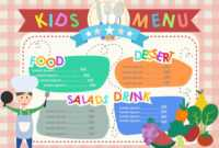 Free Templates For Kids – Colona.rsd7 throughout Fun Menu Templates