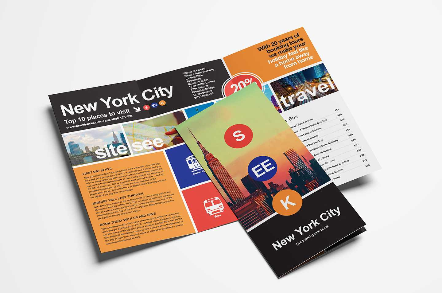 Free Travel Trifold Brochure Template For Photoshop Regarding Free Online Tri Fold Brochure Template