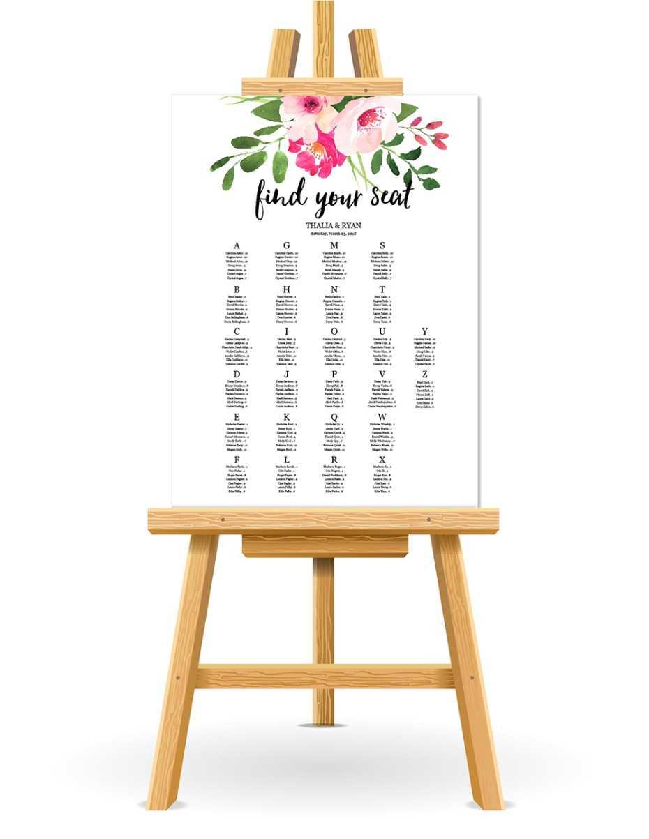 Free Wedding Seating Chart Printable Inside Free Printable Wedding Seating Chart Template