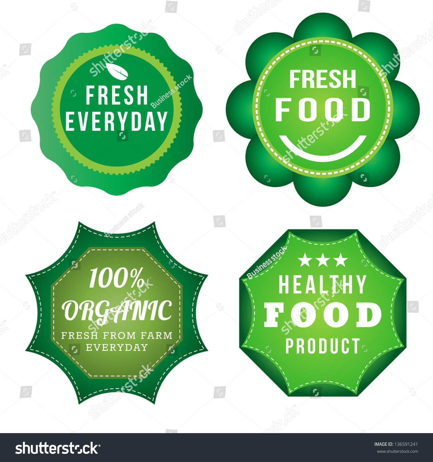 Fresh Food Product Vintage Labels Template Stock Vector Intended For Food Product Labels Template