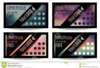 Fun Customer Loyalty Card Templates Stock Vector inside Customer Loyalty Card Template Free