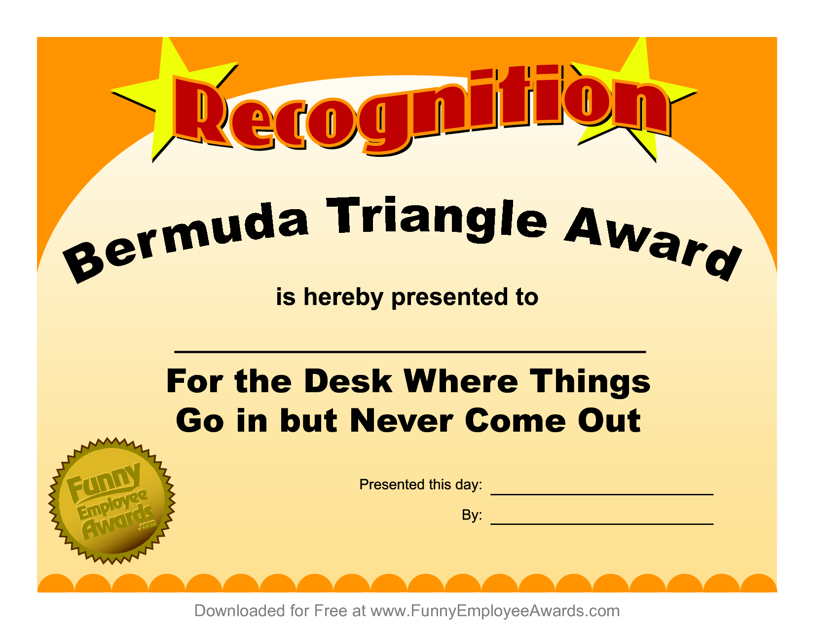 Funny Certificate Template ] - Funny Award Certificate Within Free Printable Funny Certificate Templates