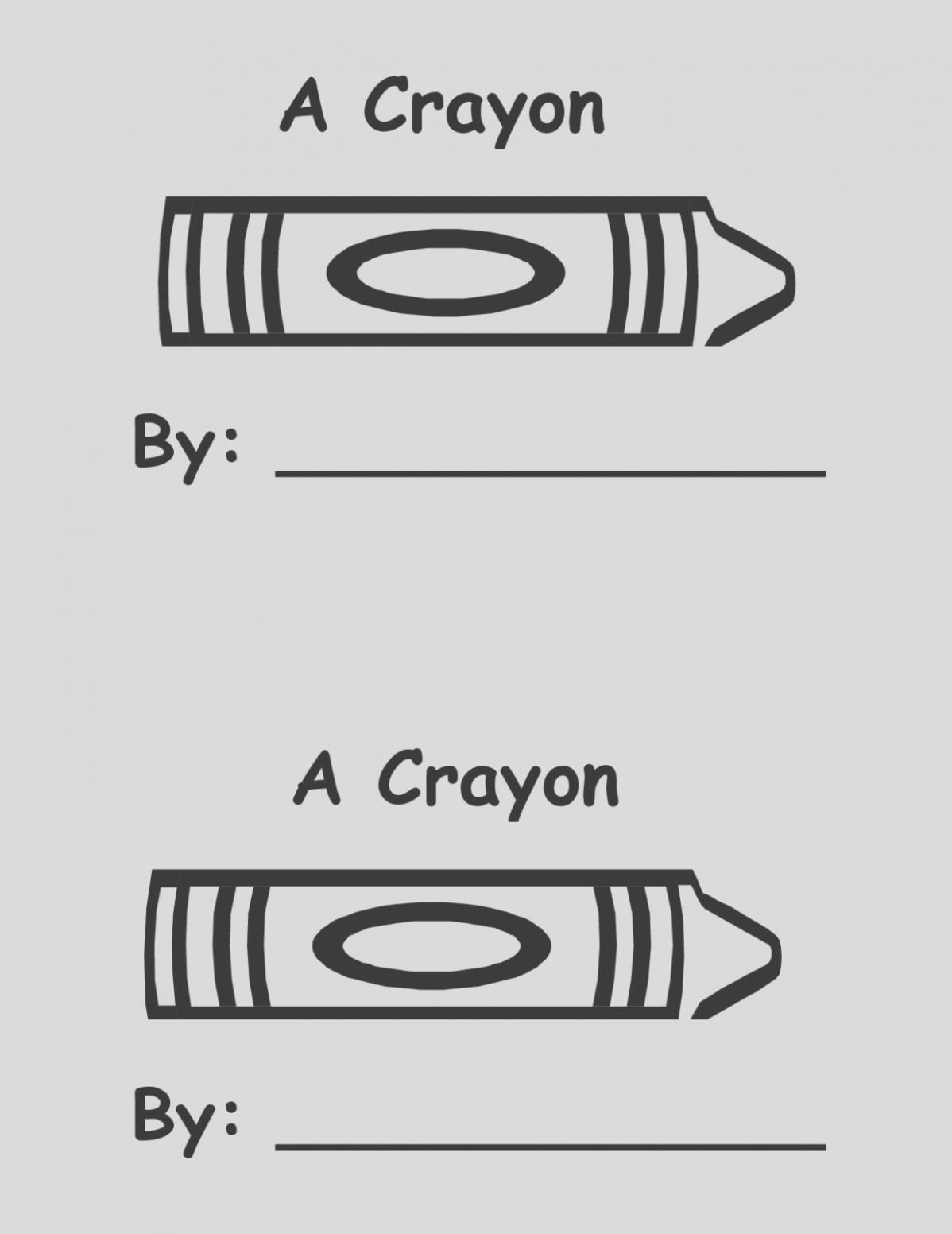 Geeky Crayon Template Printable | Ellen Blog Inside Crayon Labels Template
