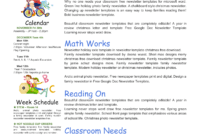 Google Docs Classroom Newsletter Template regarding Free School Newsletter Templates