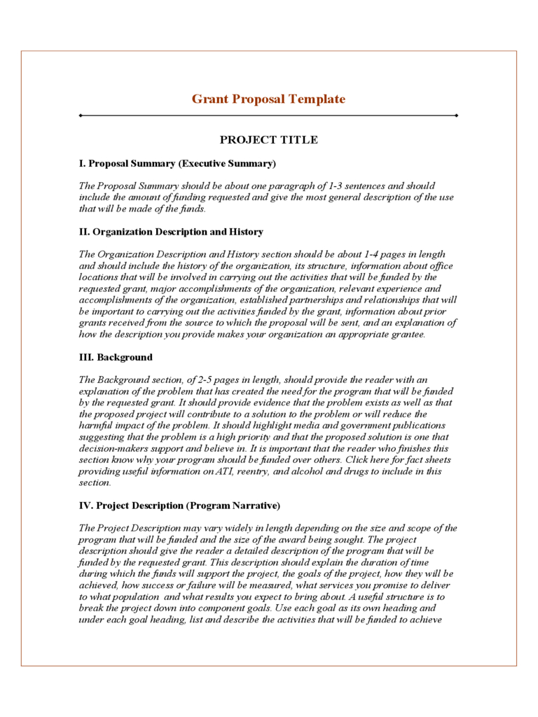 Grant Project Proposal Template Free Download With Regard To Funding Proposal Template