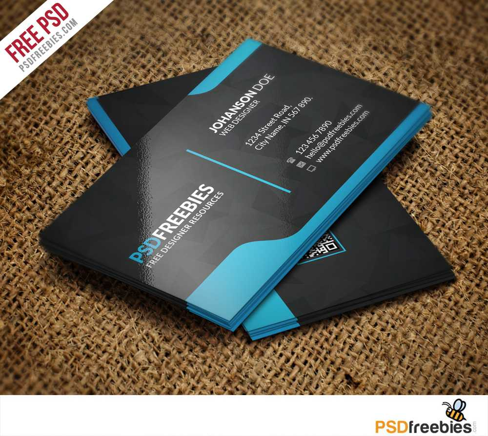 Graphic Designer Business Card Template Free Psd With Free Psd Visiting Card Templates Download