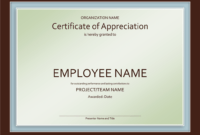 Great-Job-New Award Certificates Template regarding Employee Anniversary Certificate Template