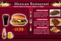 Great Templates For Any Type Of Restaurant | The Digital in Digital Menu Board Templates