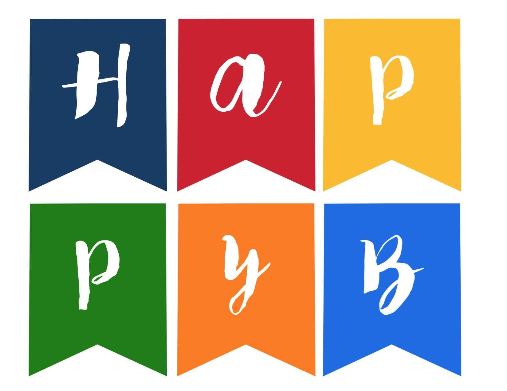 Happy Birthday Banner Free Printable - Paper Trail Design Within Free Printable Happy Birthday Banner Templates