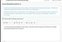 How Do Custom Email Invites Work? – Faq @ Zoom.ai throughout Email Template For Meeting Invitation