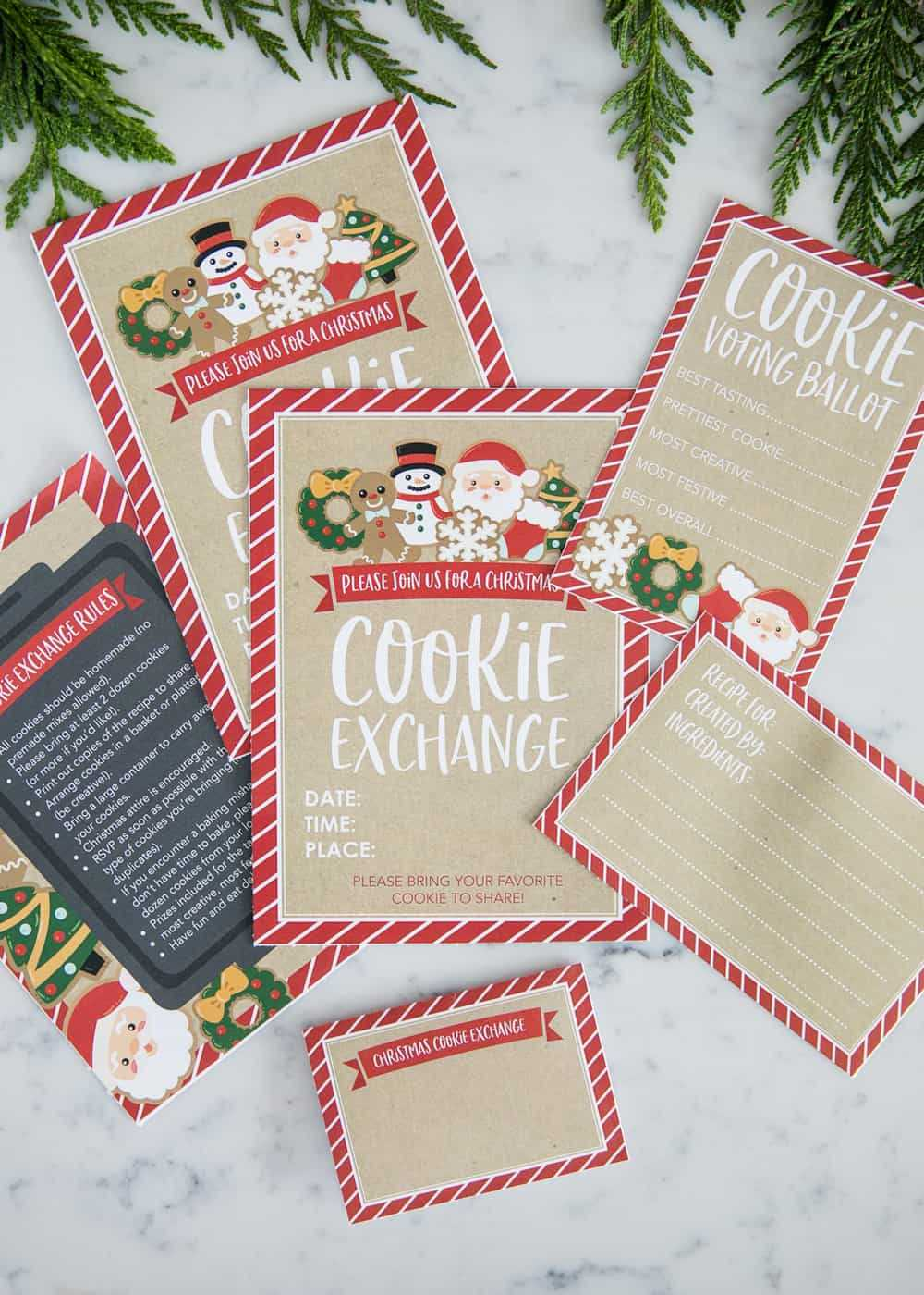 How To Host A Cookie Exchange (W/ Free Printables!) - I Throughout Cookie Exchange Recipe Card Template